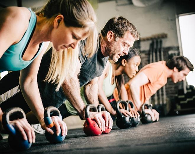 Corso CrossFit con l'utilizzo di kettlebell