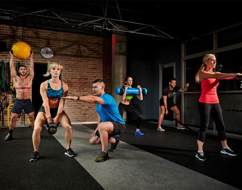 Esempi di esercizi di un corso di CrossFit